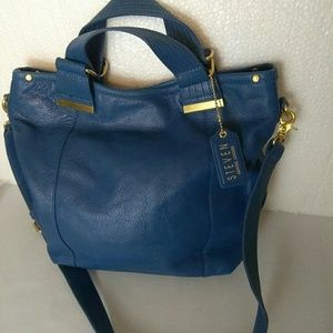 Handbags - Steve Madden Leather Royal Blue Medium Satchel